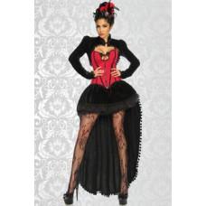 ATIXO Burlesque-Kostüm (black red)