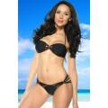 ATIXO Bandeau-Bikini (black)