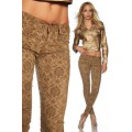 ATIXO Hose mit Flockprint (brown)
