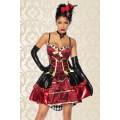 ATIXO Red-Queen-Kostüm (Red Black)
