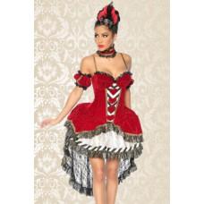 ATIXO Alice-im-Wunderland-Kostüm (red / black / white)