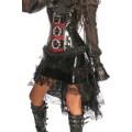 ATIXO Volant-Rock mit Spitze (black)