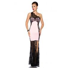 ATIXO Abendkleid (black / pink)