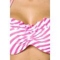 ATIXO Bandeau-Bikini (pink / white)