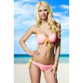 ATIXO Push-Up-Bikini (rosa / yellow)