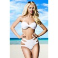 ATIXO Bandeau-Bikini (White)