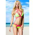 VARIOUS farbenfroher Bikini (green / pink / yellow)