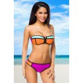 ATIXO Neopren-Bikini mit Colour-Blocking (colorful)
