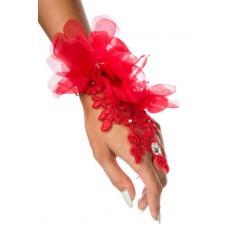 ATIXO floraler Handschmuck (red)