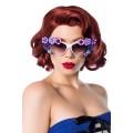 ATIXO Retro Sonnenbrille (weiß / violet)