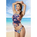 ATIXO Fransen-Tankini (blue / orange / green)