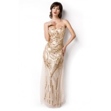 ATIXO Abendkleid (beige / gold)