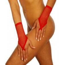 BEAUTYS LOVE Netzhandstulpen kurz (red)