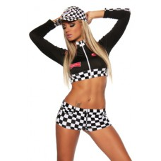 BEAUTYS LOVE Racing-Hot-Pants-Set (black-and-white)