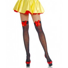 BEAUTYS LOVE Stockings mit Herzmuster (black red)