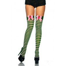 BEAUTYS LOVE Ringel-Overknees (green white)