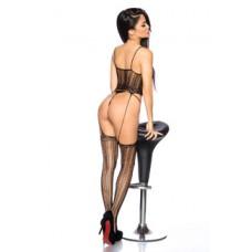 BEAUTYS LOVE Straps-Bodystocking ouvert (black)