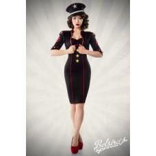 BELSIRA Military-Kleid mit Jacke (black red)