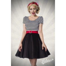 BELSIRA Jersey Kleid (black-and-white)