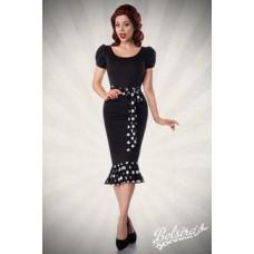 BELSIRA Jersey-Kleid mit Puffärmeln (black-and-white)