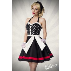 BELSIRA Neckholder Kleid (black White Red)