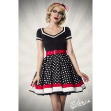BELSIRA Kleid mit Gürtel (black White Red)