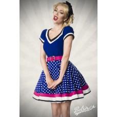 BELSIRA Kleid mit Gürtel (blue/pink/white)