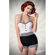 BELSIRA Retro Swimsuit (black-and-white)