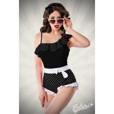 BELSIRA asymmetrischer Badeanzug (black-and-white)