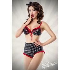 BELSIRA Highwaist Bikini (black White Red)