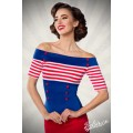 BELSIRA Jersey-Top (blue White Red)