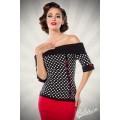 BELSIRA Jersey-Top (black White Red)