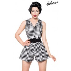 BELSIRA Retro-Jumpsuit (black-and-white)