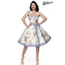 BELSIRA Vintage Swing Kleid (blue/pink/white)
