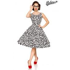 BELSIRA Vintage-Kleid (black/white/dots)