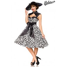 BELSIRA Vintage-Kleid (black/white/dots)