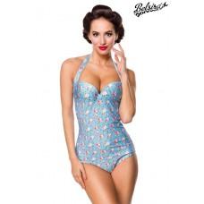 BELSIRA Vintage Badeanzug (blue/pink/white)