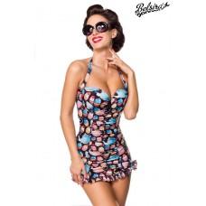 BELSIRA Vintage Badeanzug (schwarz / pink)
