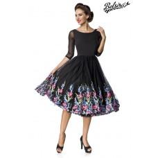 BELSIRA Belsira Premium besticktes Swing-Kleid (black)