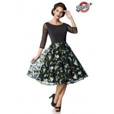 BELSIRA Premium besticktes Vintage-Swingkleid (black / blue)