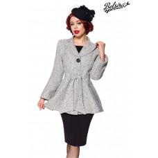 BELSIRA Belsira Premium Blazer-Jacke mit Gürtel (black-and-white)
