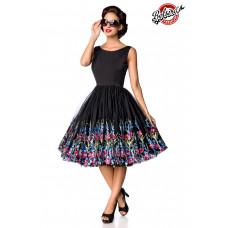 BELSIRA Belsira Premium Vintage Blumenkleid (black)