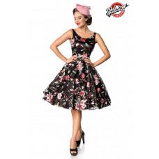 BELSIRA Belsira Premium Vintage Blumenkleid (black / pink)