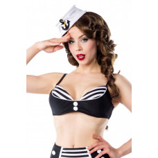 BELSIRA Vintage-Bikinioberteil (black-and-white)