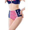 BELSIRA Vintage-Bikinihöschen (blue / red / white)