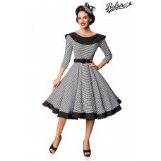 BELSIRA Premium Vintage Swing-Kleid (black-and-white)