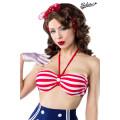 BELSIRA Vintage-Bikinioberteil (blue / red / white)