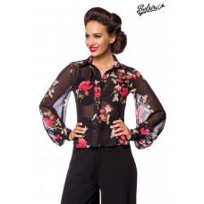 BELSIRA Vintage-Bluse (black red)