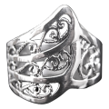 Darksilver Celtic Ring CR47