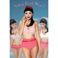 DESIGN BY ATIXO Vintage-Wendebikini (Red White)